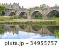 カルカソンヌに架かる橋の反射 34955757
