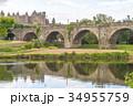 カルカソンヌに架かる橋の反射 34955759