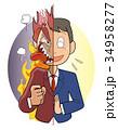 本音と建前-ビジネスマン 34958277