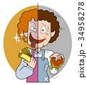 本音と建前-おばさん 34958278