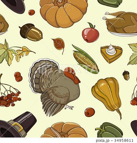 Happy Thanksgiving set pattern 34958611