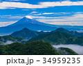 新緑 富士山 山の写真 34959235