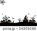 ハロウィンシルエット (背景無し透過) 34959286