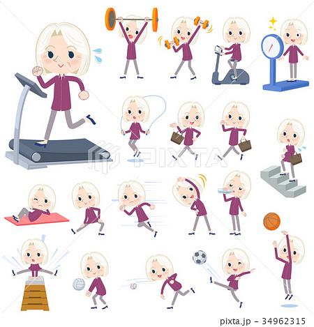 purple shirt old women White_Sports & exercise 34962315