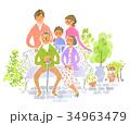 庭での家族 34963479