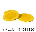 ビットコイン 金貨 コインのイラスト 34966393