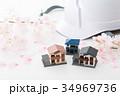 住宅 不動産 桜の写真 34969736