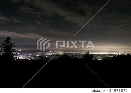八方ヶ原大間々台展望台からの夜景-矢板・氏家・宇都宮方面 34971872