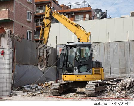 家屋の解体工事現場 34972042