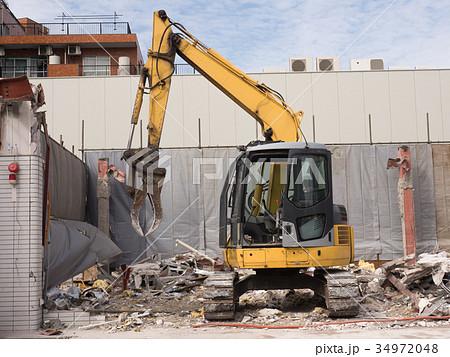 家屋の解体工事現場 34972048