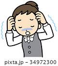不安 パニック障害 OLのイラスト 34972300