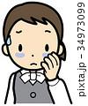 血行不良 目のクマ OLのイラスト 34973099