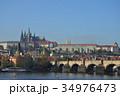 プラハ カレル橋 プラハ城の写真 34976473