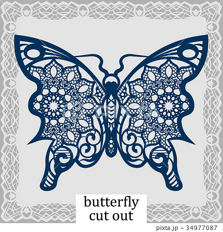 Butterfly - a template for laser cutting 34977087