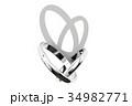 指輪 結婚指輪 マリッジリングのイラスト 34982771