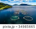 サケ 農園 ノルウェーの写真 34985665