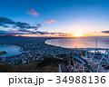 《北海道》函館の夜明け 34988136