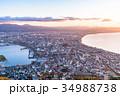 《北海道》函館の夜明け 34988738