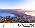 《北海道》函館の夜明け 34988839