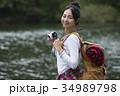 女性 カメラ 旅行の写真 34989798