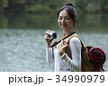 女性 カメラ 旅行の写真 34990979