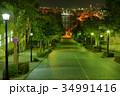 夜景 市街地 町並みの写真 34991416