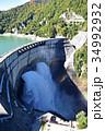 黒部ダムにかかる虹 34992932