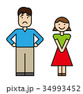 夫婦 カップル 笑顔のイラスト 34993452