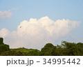 雲 青空 白雲の写真 34995442
