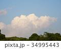 雲 青空 白雲の写真 34995443