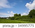 雲 空 青空の写真 34995775
