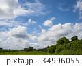 雲 青空 白雲の写真 34996055