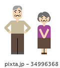 夫婦 シニア 老夫婦のイラスト 34996368