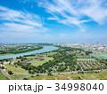 空撮 埼玉県彩湖と堂満グリーンパーク 34998040