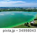 空撮 埼玉県彩湖と堂満グリーンパーク 34998043