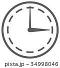 時計 時間 アナログ時計 イラスト アイコン 34998046