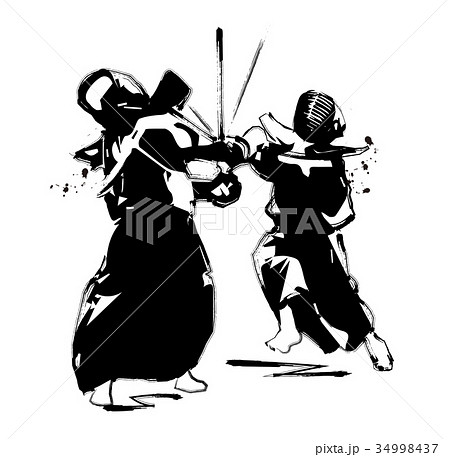 剣道のイラスト素材 34998437 Pixta