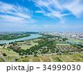 空撮 埼玉県彩湖と道満グリーンパーク 34999030
