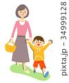 親子 お母さんと男の子 34999128