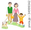 親子 散歩 34999342
