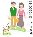 散歩するカップル 34999343