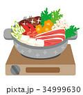 鍋イラスト 34999630