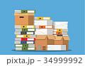 書類 資料 紙のイラスト 34999992