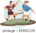 ベクトル サッカー フットボールのイラスト 35002135