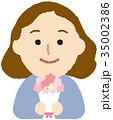女性 母の日 花束のイラスト 35002386