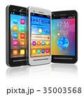 Set of touchscreen smartphones 35003568