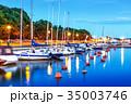 Sea pier and marina in Helsinki, Finland 35003746