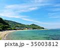 福岡県 青空の玄界灘の海 35003812