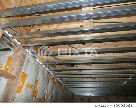 マイホームの天井には軽量鉄骨下地 35003933