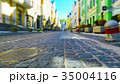 Old town street in retro colors 35004116